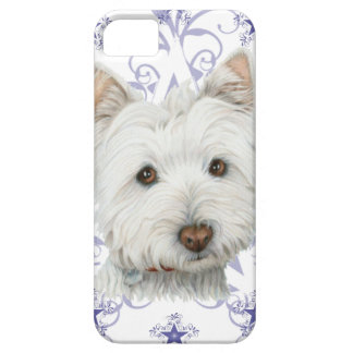 Cute Westie Dog Art and Christmas Snowflake Gifts Case For The iPhone 5