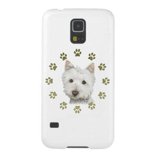 Cute Westie Dog Art and Paws Case For