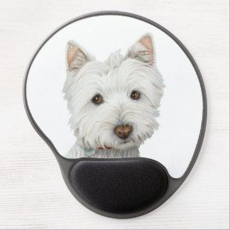 Cute Westie Dog Art Gel Mouspad Gel Mouse Mat