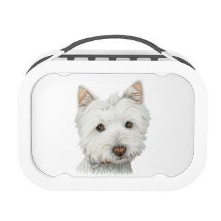 Cute Westie Dog Art Lunch Box