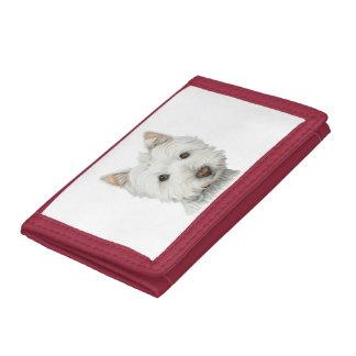 Cute Westie Dog Art Wallet