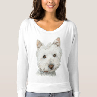 Cute Westie Dog Art Woman's T-Shirt
