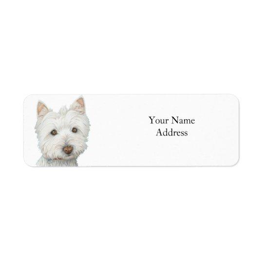 Cute Westie Dog Avery Label Return Address Label
