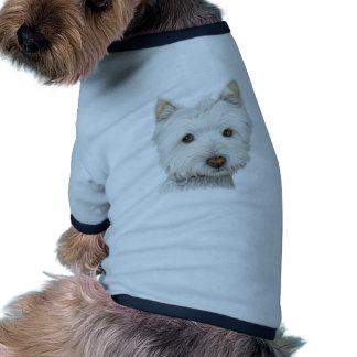 Cute Westie Dog Pet Tshirt