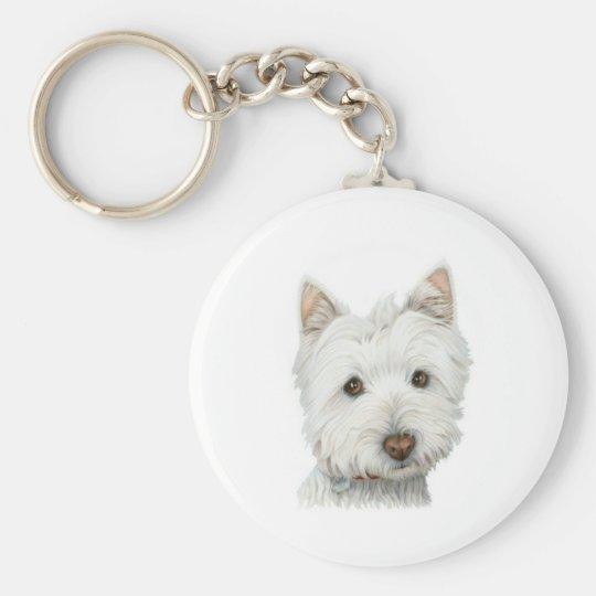 Cute Westie Dog key chain