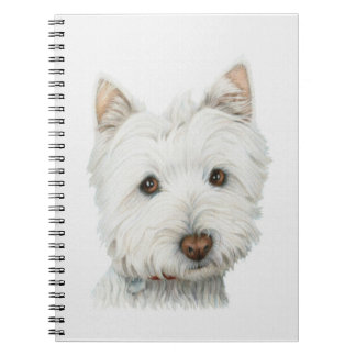 Cute Westie Dog Notebook