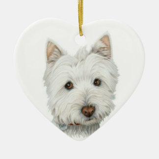 Cute Westie Dog Ornament