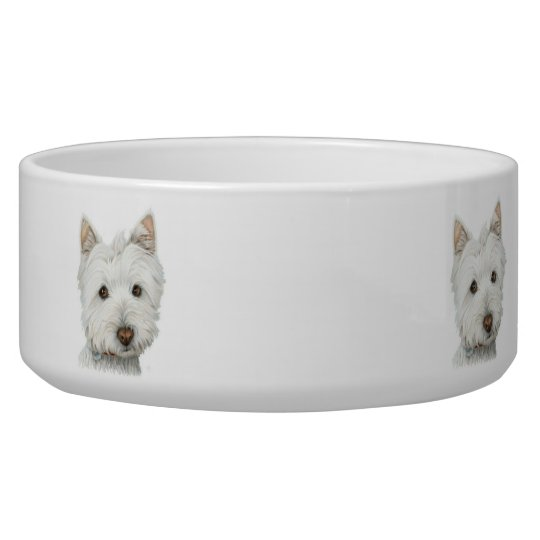Cute Westie Dog Pet Bowl