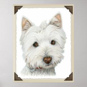 Cute Westie Dog Print