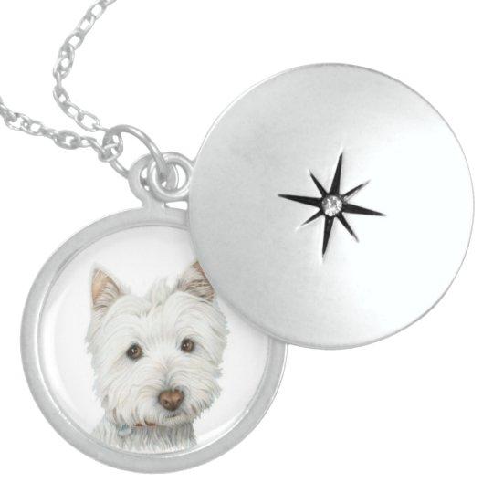 Cute Westie Dog Silver Necklace