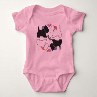 Cute Westie dogs art baby grow Baby Bodysuit