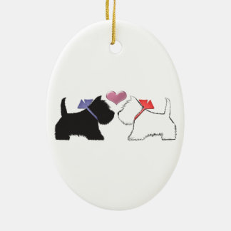 Cute Westie Dogs Art Christmas Ornament