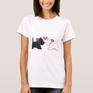 Cute Westie Dogs Art T-Shirt