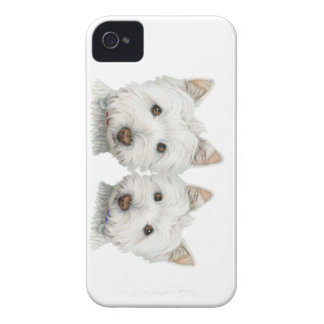 Cute Westie Dogs Blackberry Case