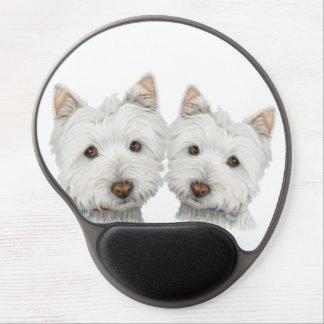 Cute Westie Dogs Gel Mouspad Gel Mouse Mat