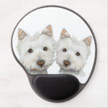 Cute Westie Dogs Gel Mouspad Gel Mouse Pads