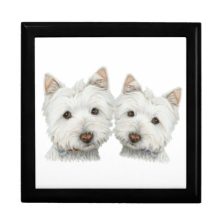 Cute Westie Dogs Gift Box