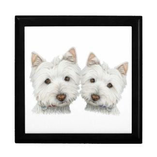 Cute Westie Dogs Gift Box