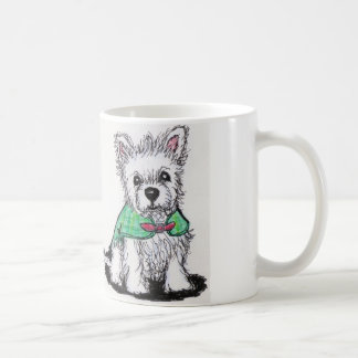 Cute Westie puppy coat mug birthday christmas