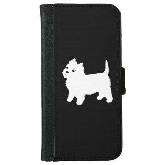 Cute Westie - West Highland White Terrier iPhone 6 Wallet Case