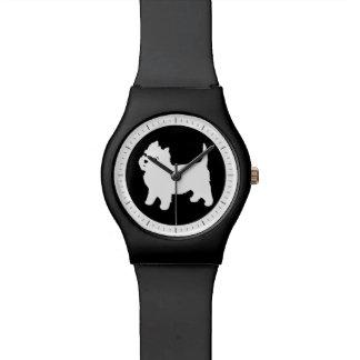 Cute Westie - West Highland White Terrier Wristwatches