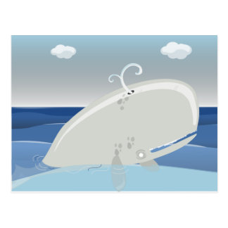 Cute Whale Art Postcard