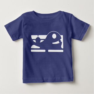 Cute whale Baby Fine Jersey T-Shirt HQH