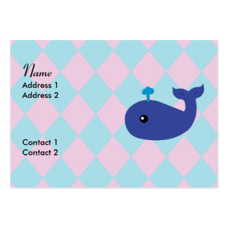 Cute Whale Business Cards Chubby Business Cards