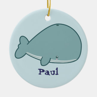 Cute Whale Christmas Ornament