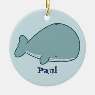 Cute Whale Christmas Ornament