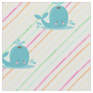 Cute Whale Fabric