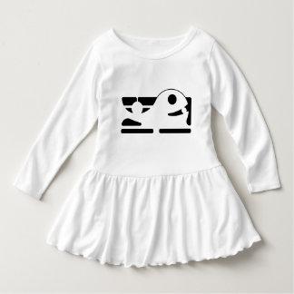 Cute whale Little girl's Toddler Ruffle Dress HQH