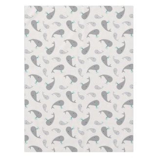 Cute Whale Mom and Baby Pattern Tablecloth