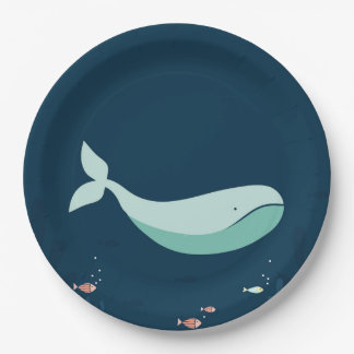 Cute Whale Party Supply Plate