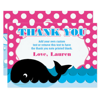 Cute Whale, Polka Dot Thank You Cards