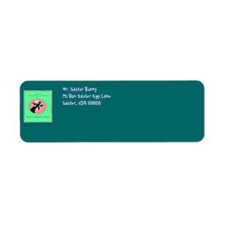 Cute Whale with Easter bunny ears return address l Return Address Label