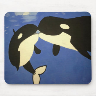 Cute Whales Mouse Pad