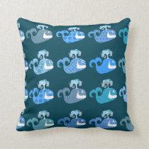 Cute Whales Pattern 2 Cushion