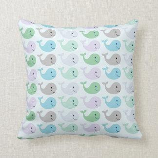 Cute Whales Throw Pillow