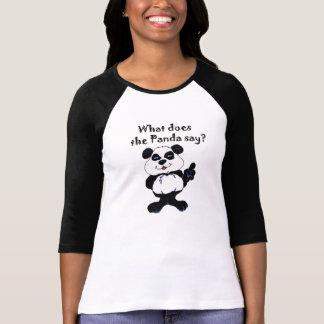 """Cute """"What does the Panda say?"""" Ladies Tshirt"""