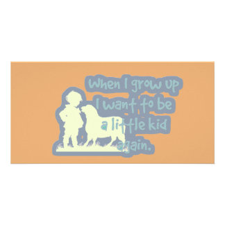 """Cute """"When I grow up..."""" Personalized Photo Card"""