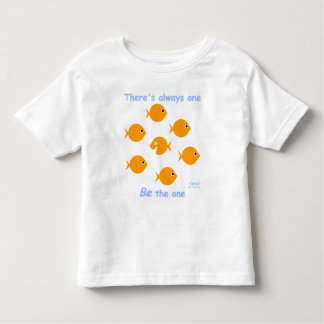 Cute Whimsical Blue-Eyed Little Baby Goldfish Toddler T-Shirt