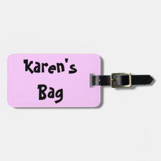 Cute Whimsical Cartoon Name Luggage Tag