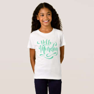 Cute Whimsical Hello Monday | Jersey Shirt