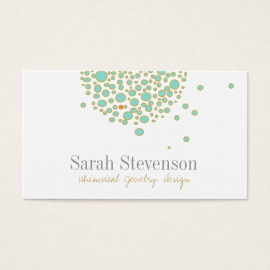 Cute Whimsical Jewellery Designer Business Card