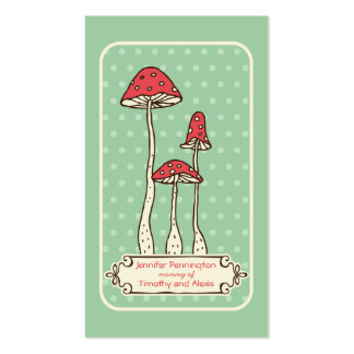Cute whimsical mushrooms parent calling card pack of standard business cards