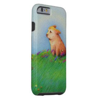 Cute whimsical original art puppy drawing fun tough iPhone 6 case