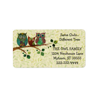 Cute Whimsical Owls Change of Address Label