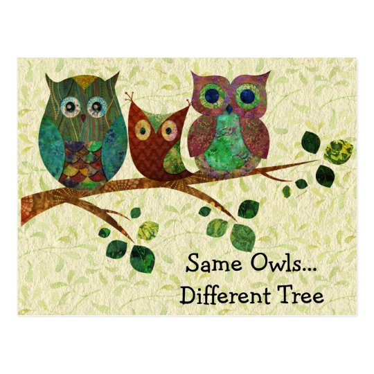 Cute Whimsical Owls Change of Address Postcard