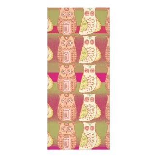 Cute Whimsical Owls Pattern Tan Pink Stripes Personalized Invite